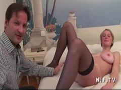 Petite pornstar Odette tugging in the office