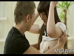Nice romantic video category teen (308 sec). Gratifying a hard love muscle.