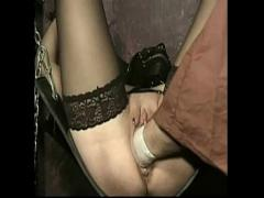 18+ film category lesbian (977 sec). Teen boat captain uses dildo on her first mate.